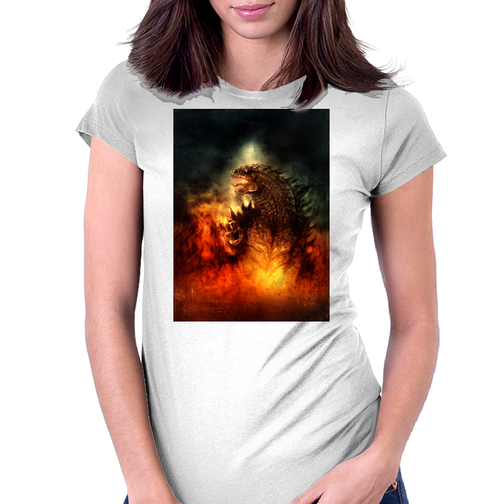 Godzilla Womens Fitted T-Shirt