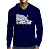 Going Downhill Fast Skiing Mens Hoodie