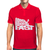 Going Downhill Fast Skiing Mens Polo