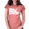 Going Downhill Fast SKIING Womens Fitted T-Shirt