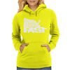 Going Downhill Fast Skiing Womens Hoodie