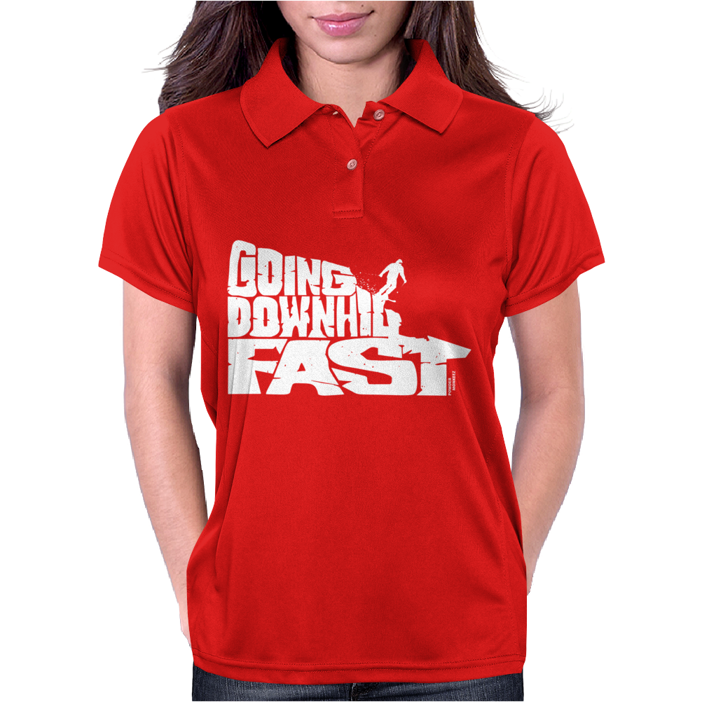 Going Downhill Fast SKIING Womens Polo