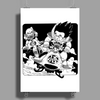Goku and Krillin Poster Print (Portrait)