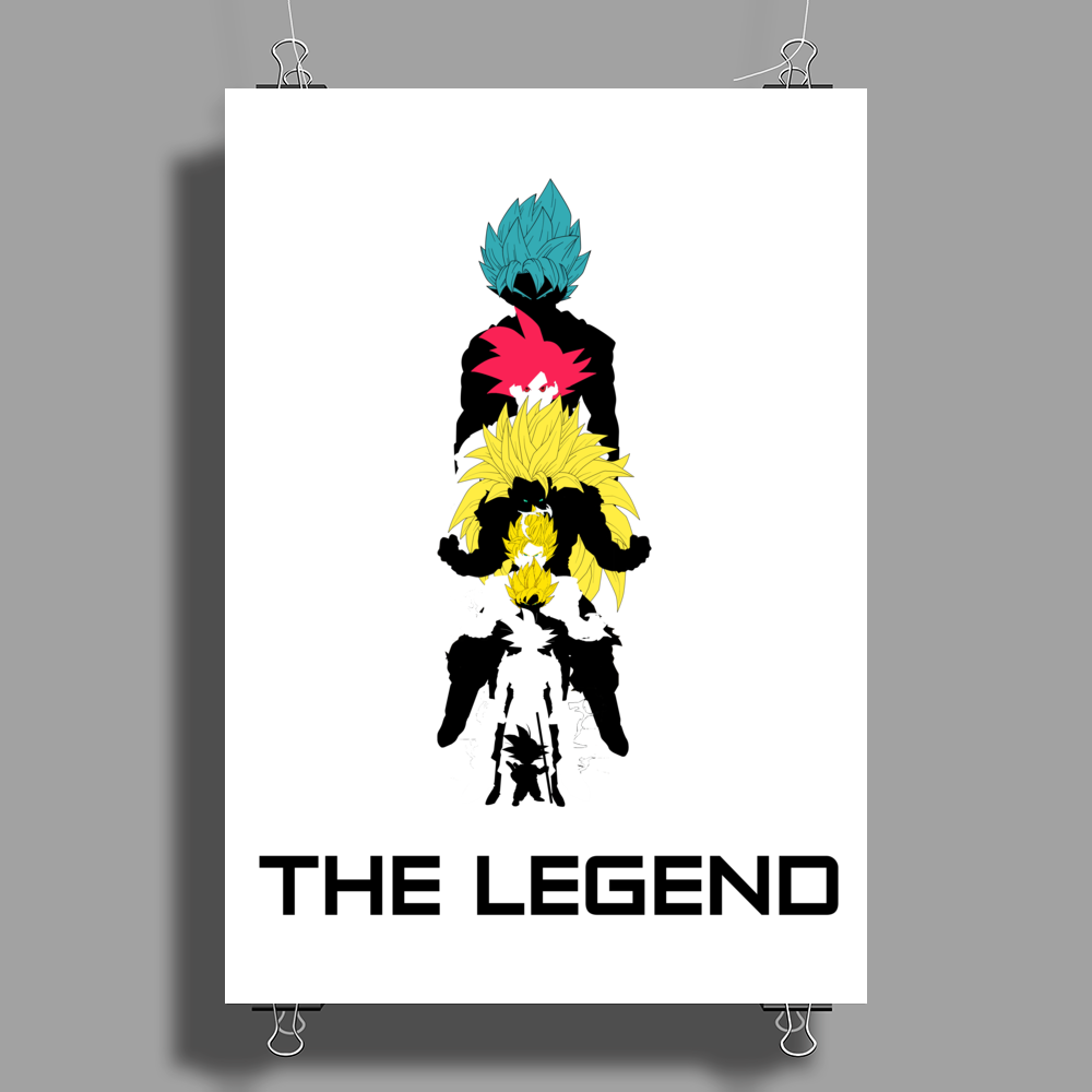 Goku The Legend Poster Print (Portrait)