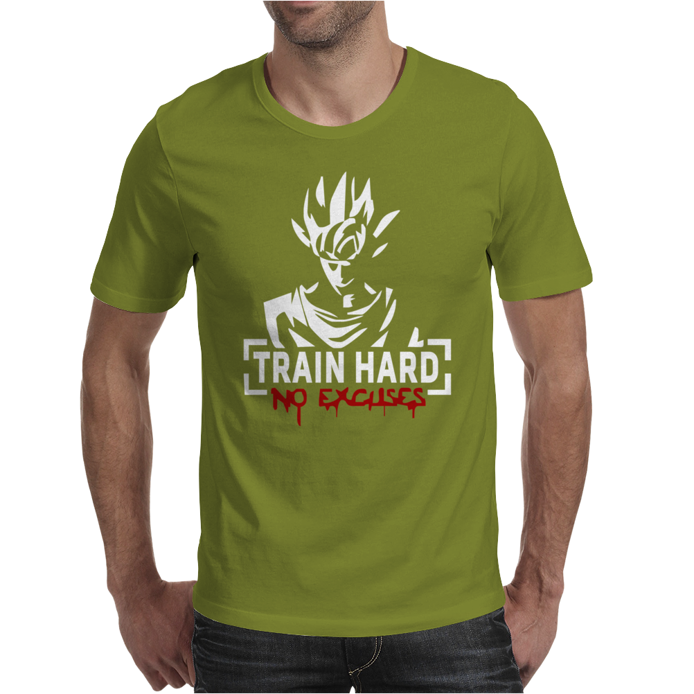 Goku - Train Hard No Excuses Mens T-Shirt