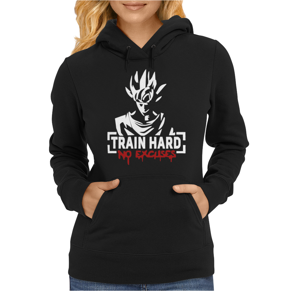 Goku - Train Hard No Excuses Womens Hoodie
