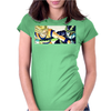 Goku vs Cell Womens Fitted T-Shirt
