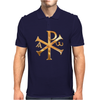 Gold Christogram Mens Polo