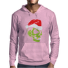 Gold Tooth Green Skull Santa Hat Christmas Mens Hoodie