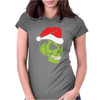 Gold Tooth Green Skull Santa Hat Christmas Womens Fitted T-Shirt