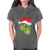 Gold Tooth Green Skull Santa Hat Christmas Womens Polo