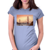 Golden Gate Bridge Insipration.  San Francisco California Bridge at twilight. Womens Fitted T-Shirt