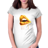 Golden Lips Womens Fitted T-Shirt