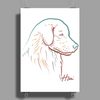 Golden Retriever art Poster Print (Portrait)