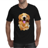 Golden retriever poligonal Mens T-Shirt