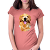 Golden retriever poligonal Womens Fitted T-Shirt