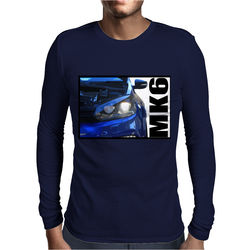 Golf R MK6 Blue Mens Long Sleeve T-Shirt