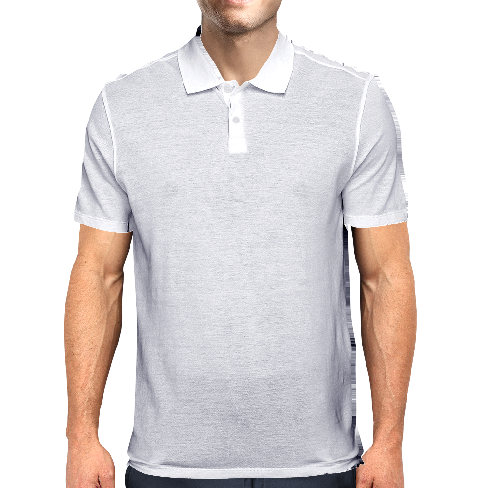 Gone Surfing - White Logo Mens Polo