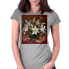 Good News (Gabriel's Whisper). White Lilies Buquet. Womens Fitted T-Shirt