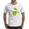 Google Android Robot Eat Apple Funny Mens T-Shirt