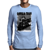 gorilla train Mens Long Sleeve T-Shirt