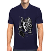 Gorilla with a gun, headphones and mixing equipment on the loose. Mens Polo
