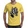 Gorilla with a gun, headphones and mixing equipment on the loose. Mens T-Shirt