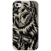 Gorilla with a gun, headphones and mixing equipment on the loose with background. Phone Case