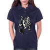 Gorilla with a gun, headphones and mixing equipment on the loose. Womens Polo