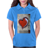 graffiti heart city peace sign flower power love Womens Polo