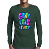 Graffitis Art Multicolors Mens Long Sleeve T-Shirt