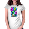 Graffitis Art Multicolors Womens Fitted T-Shirt