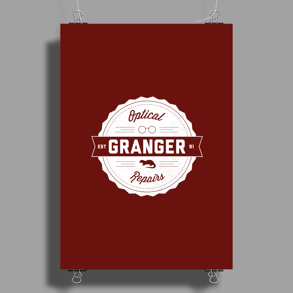 Granger Optical Repairs Poster Print (Portrait)