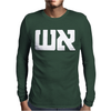 Graphic Tee Fire in Hebrow Mens Long Sleeve T-Shirt