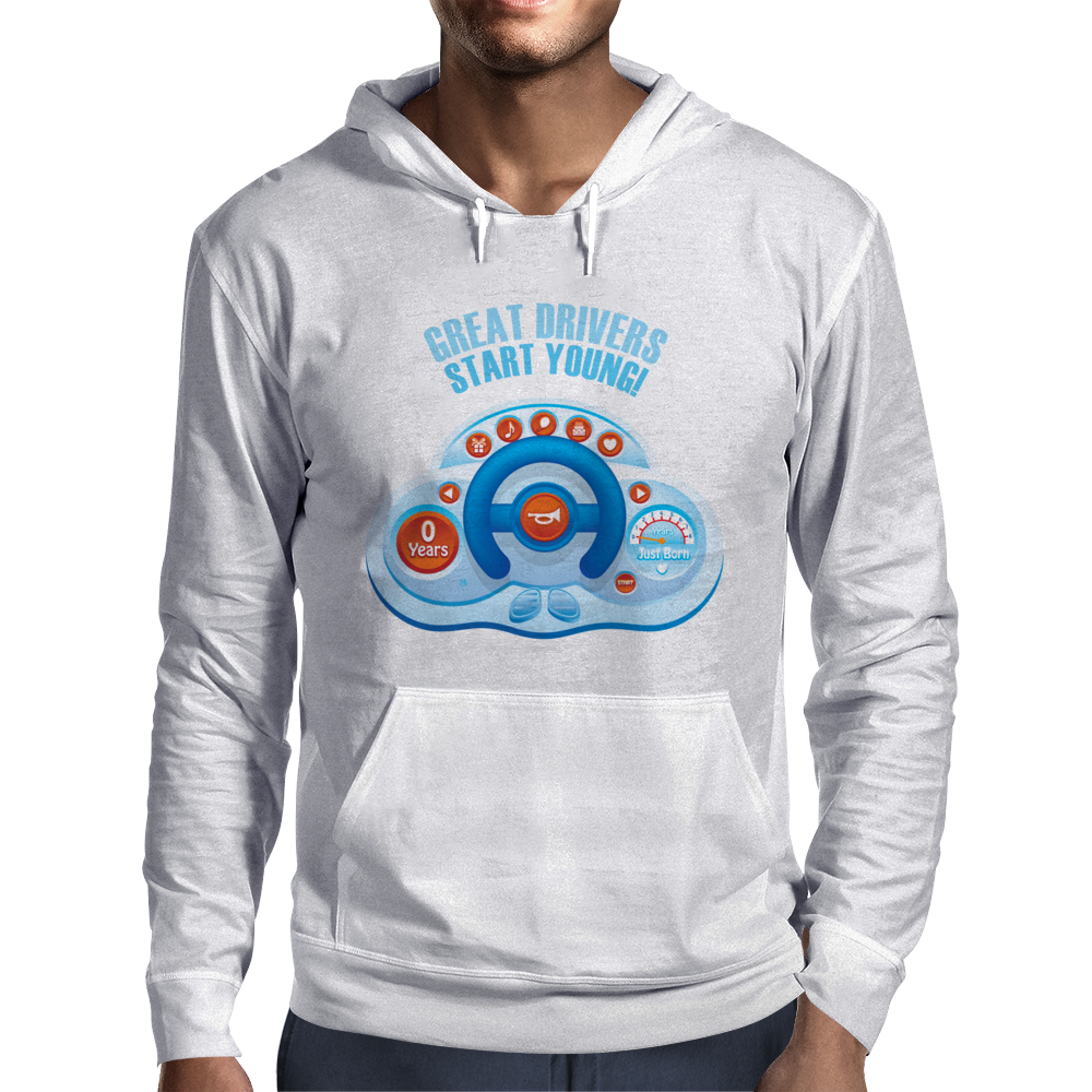 Great drivers start young! Mens Hoodie