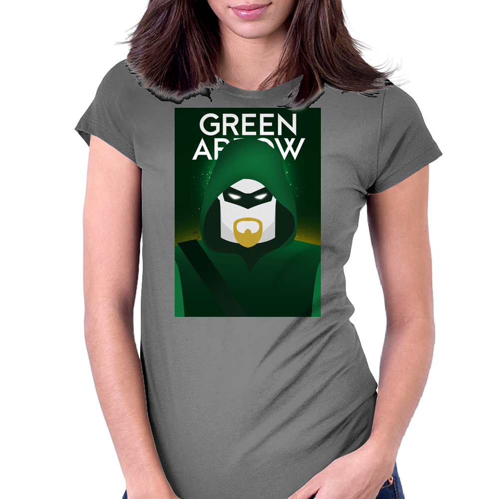 Green Arrow Womens Fitted T-Shirt