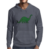 Green dino distressed version Mens Hoodie