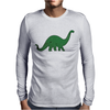 Green dino distressed version Mens Long Sleeve T-Shirt