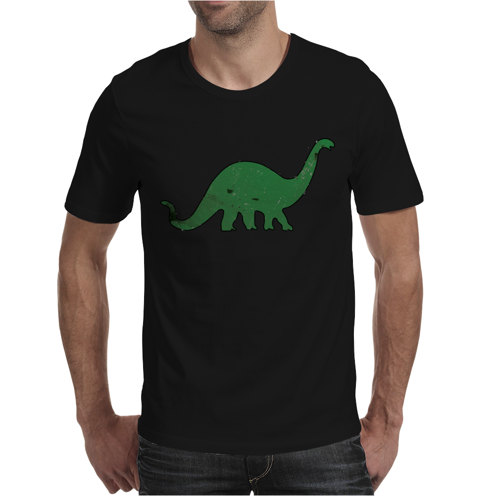 Green dino distressed version Mens T-Shirt