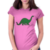 Green dino distressed version Womens Fitted T-Shirt