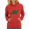 Green dino distressed version Womens Hoodie