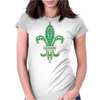 Green Fleur De Lis Womens Fitted T-Shirt