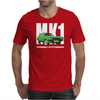 Green Ford Capri MK1 Classic Car Mens T-Shirt