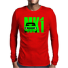 Green Ford Escort MK1 Classic Car Mens Long Sleeve T-Shirt
