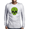 Green Hellion Skull Mens Long Sleeve T-Shirt