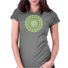 Green Mandala Womens Fitted T-Shirt