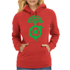 Green Recycle Womens Hoodie