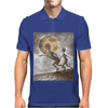 Grey Alien Mens Polo