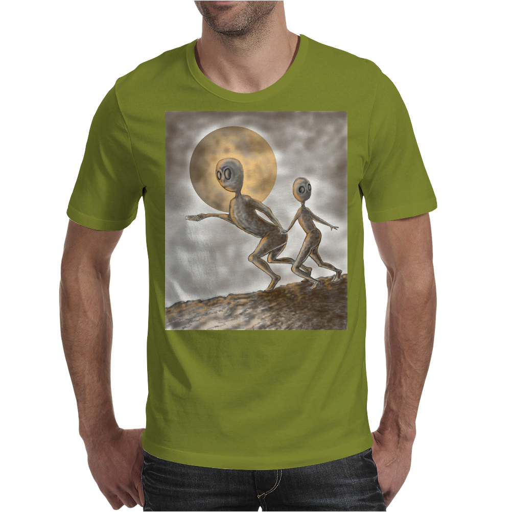 Grey Alien Mens T-Shirt