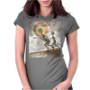 Grey Alien Womens Fitted T-Shirt
